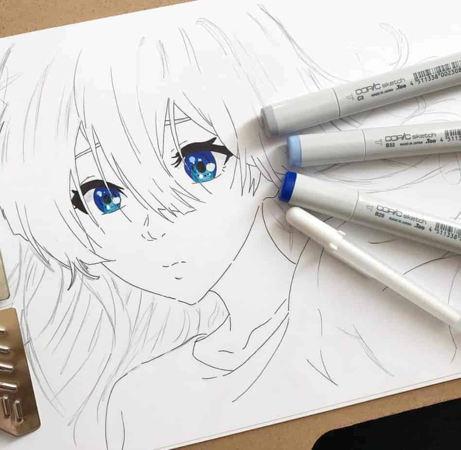 Line Drawing Violet : Ignite spotlight violet evergarden by us animeignite