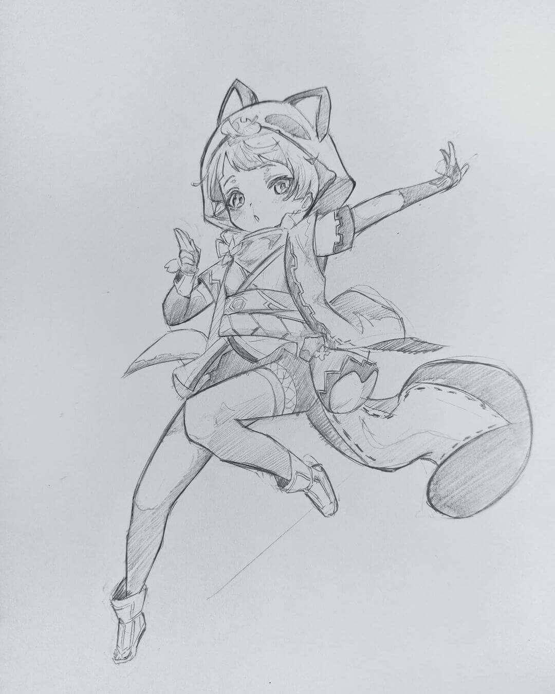 Honorable Mention Sayu (Genshin Impact) by adem_seddiki Anime art