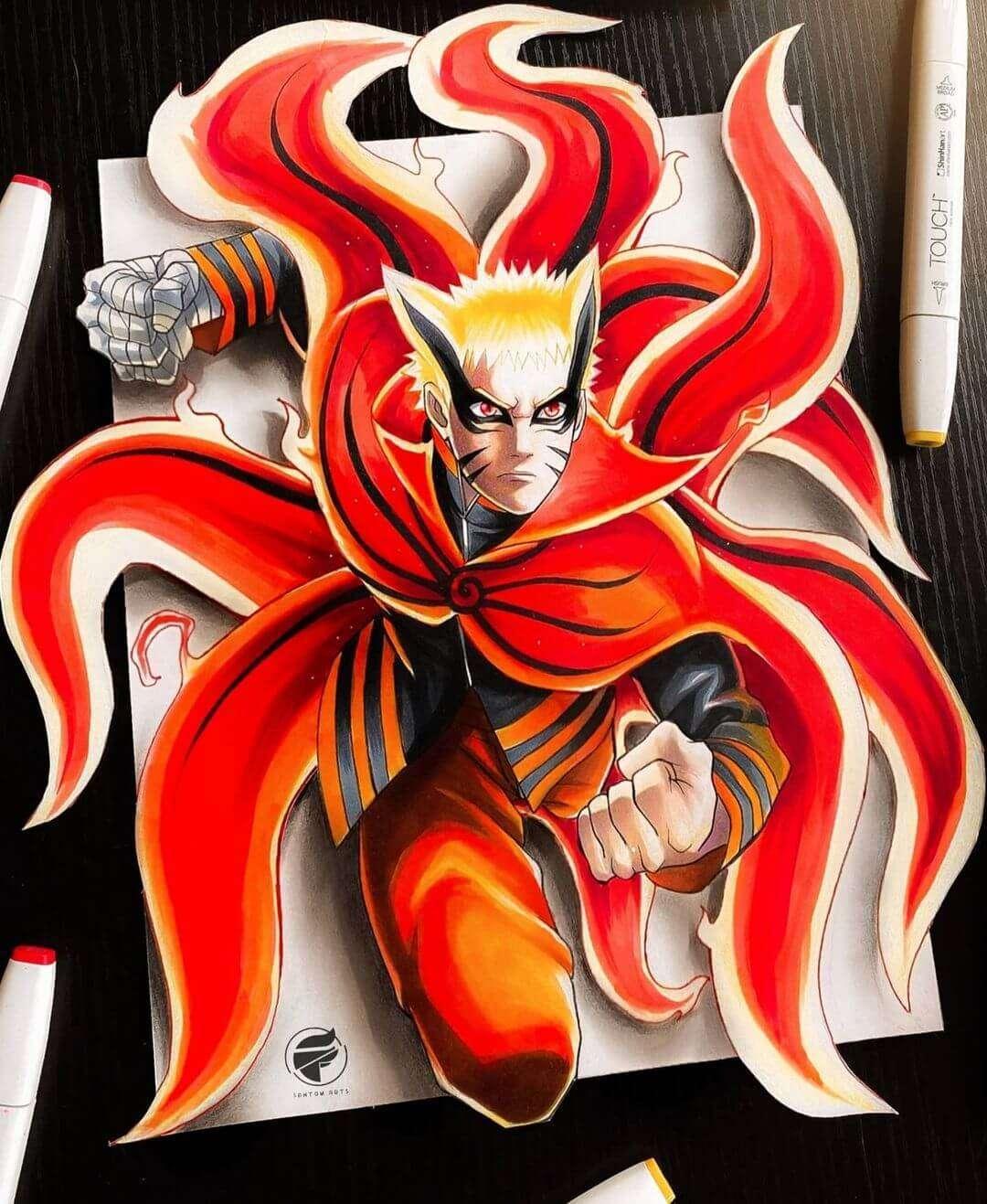 Naruto – Baryon Mode (Boruto) by fantom.arts