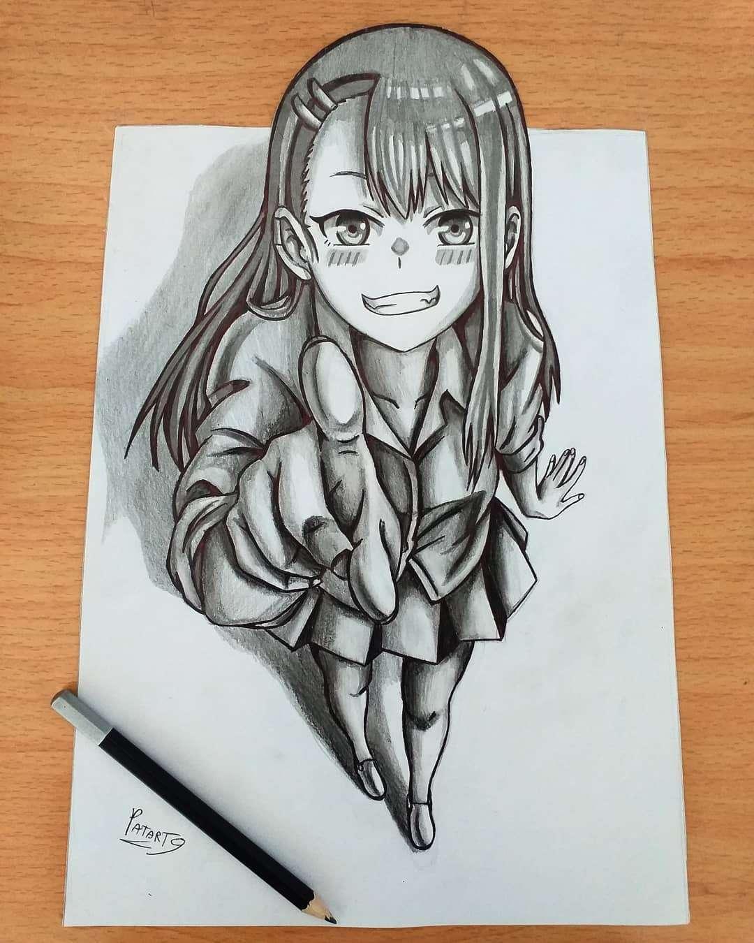 Nagatoro (Nagatoro-san) by patart9 Anime Art of the Week