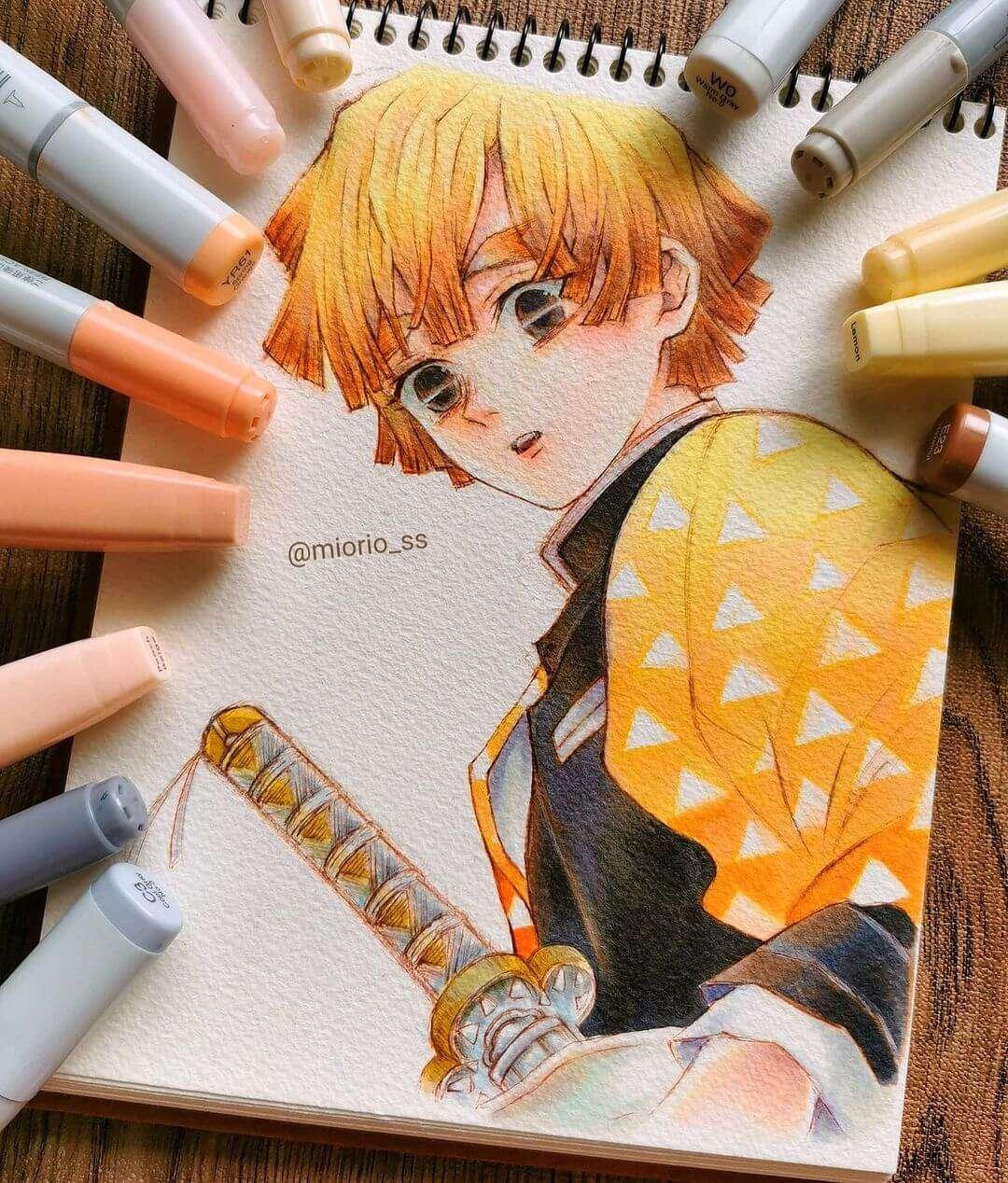 Zenitsu (Demon Slayer) by miorio_ss Anime Art of the Week